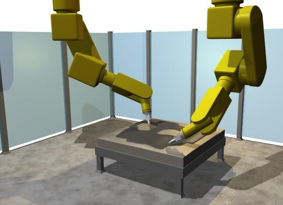 Mastering Motoman robots for water jet cutting