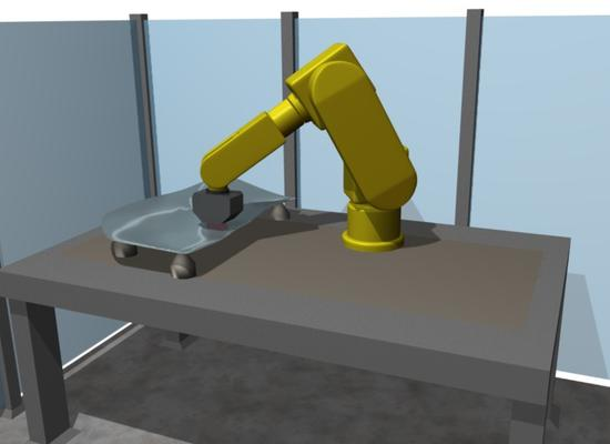 Robot cell for quality testing